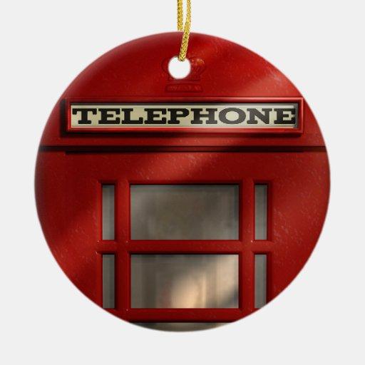 British Red Telephone Box Custom Ornament