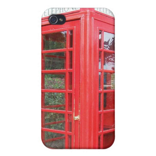 British Red Telephone Box Cover For iPhone 4