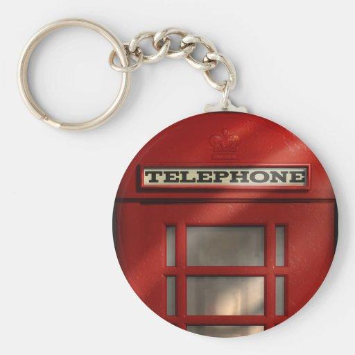 British Red Telephone Box Keychain