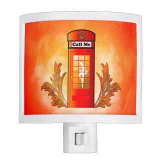 British red telephone box night light