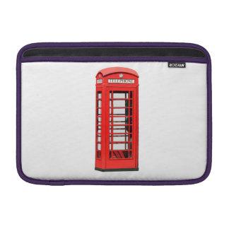 British red telephone box on Macbook sleeve