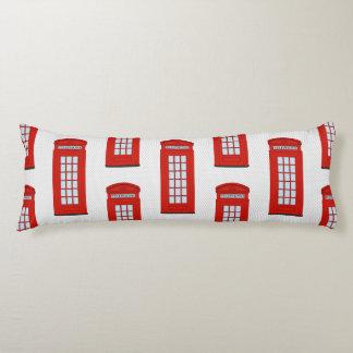 British Red Telephone Box Pattern Body Pillow