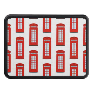 British Red Telephone Box Pattern Tow Hitch Cover