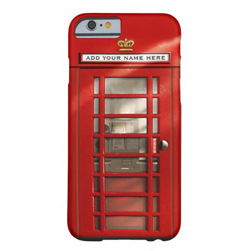 British Red Telephone Box Personalized iPhone 6 Case