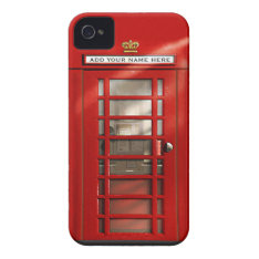 British Red Telephone Box Personalized iPhone 4 Case at Zazzle