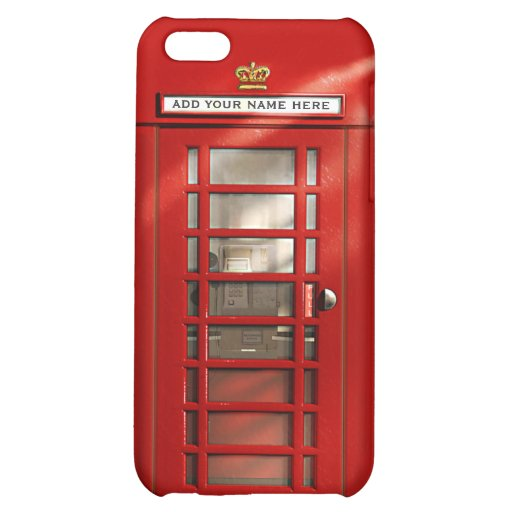 British Red Telephone Box Personalized Case For iPhone 5C