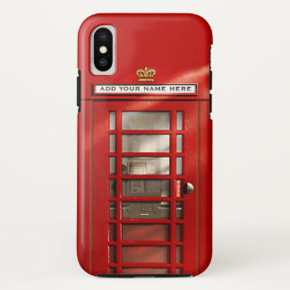 British Red Telephone Box Personalized iPhone XS Case