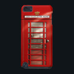 "British Red Telephone Box Personalized iPod Case<br><div class=""desc"">I gave my original design a new coat of paint! This classic icon of the British landscape has been well received by my customers receiving 5 star reviews in the past, so I really hope the new design proves to be as popular. In addition to the brighter red tone, as...</div>"