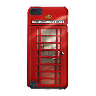 British Red Telephone Box Personalized iPod Case