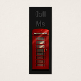 Phone booth business cards templates zazzle british red telephone box skinny profile cards reheart Gallery