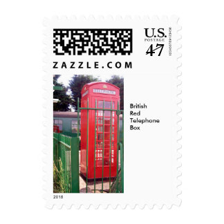 British Red Telephone Box  Small Stamp