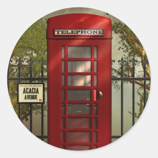 British Red Telephone Box Stickers