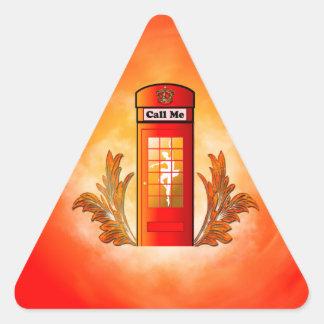 British red telephone box triangle sticker