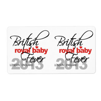 British Royal Baby Fever - Prince George Label