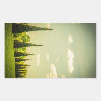 British Royal Gardens - Summer Days Rectangle Stickers