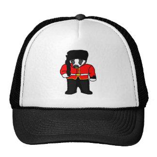 British Royal Guard Badger Cartoon Illustration Trucker Hat
