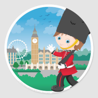 British Royal Guard Classic Round Sticker