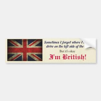 British Royal Union Jack Antique Flag Bumper Sticker
