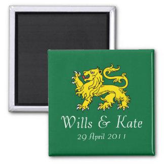 British Royal Wedding  Magnet (Hunter Green)