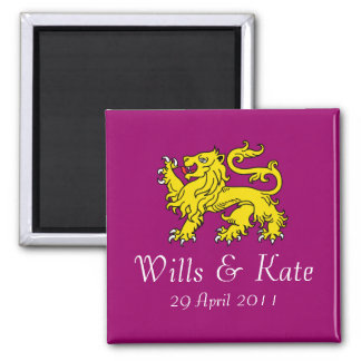 British Royal Wedding  Magnet (Magenta)