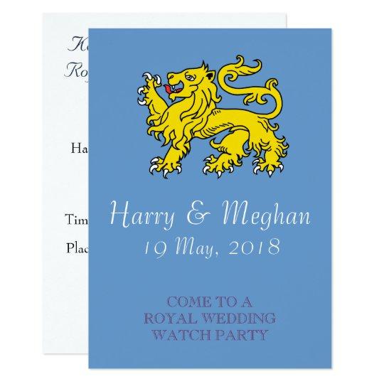 Royal Wedding Watch.British Royal Wedding Watch Party Invitation