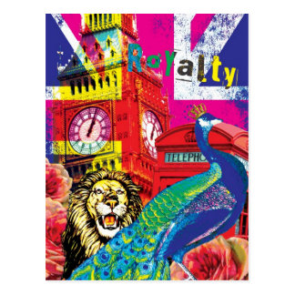 British Royalty Pop Art Postcard
