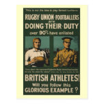 British rugby, football players call for duty post cards
