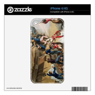 British Sailors Boarding a Man of War, engraved by Decals For The iPhone 4