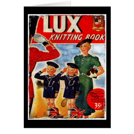 British Saluting Children in Sailor Suits Greeting Cards