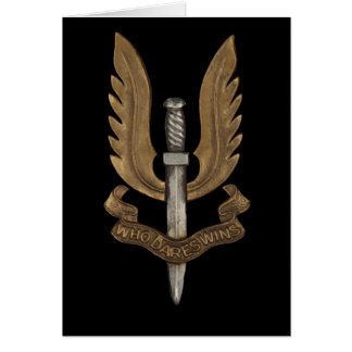 British SAS Card