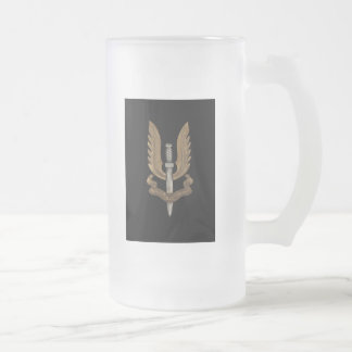 British SAS Frosted Glass Beer Mug
