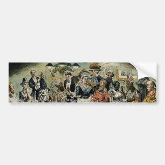 British Scrooge Queen Victoria Christmas Dinner Bumper Sticker
