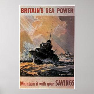 British Seapower Poster