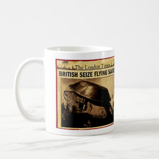 British Seize Flying Saucer Coffee Mug