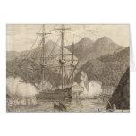 British Ships Firing at Tahiti Greeting Cards