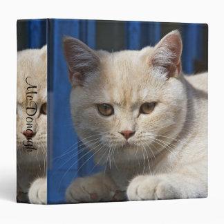 British Shorthair Cat 3 Ring Binder