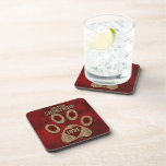 British Shorthair Cat Breed Red Coaster Set