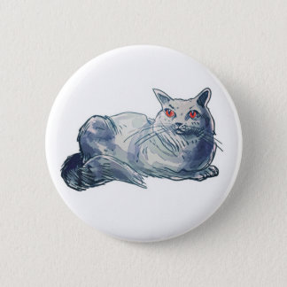 british shorthair cat cartoon style illustration button