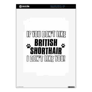 British Shorthair cat design Skins For iPad 2