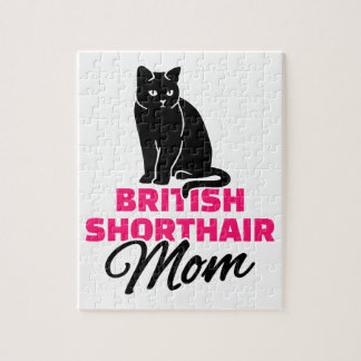 British shorthair cat mom jigsaw puzzle