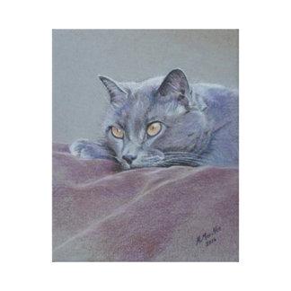 British shorthair cat painting canvas print