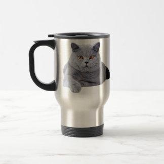 British shorthair cat travel mug