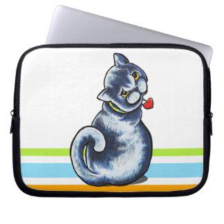 British Shorthair Little Charmer Laptop Computer Sleeve