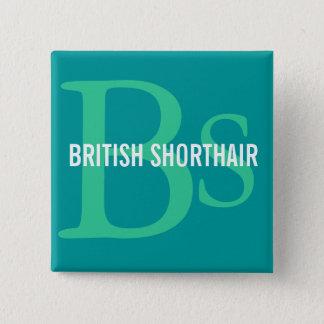 British Shorthair Monogram Pinback Button