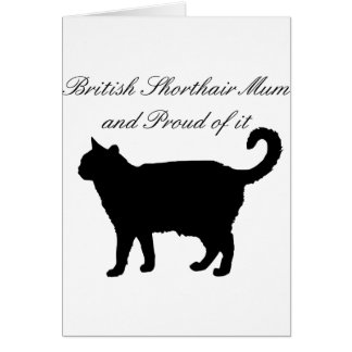 British Shorthair Mum Card