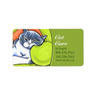 British Shorthair Off-Leash Art™ Cat Business Label
