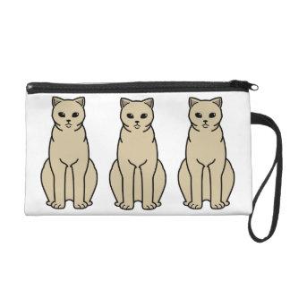 British Shorthair Self Cat Cartoon Wristlet