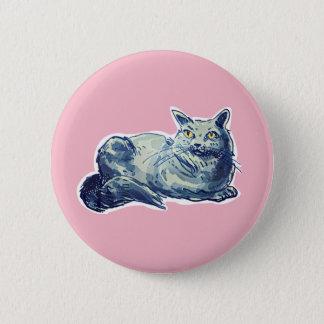 british shorthair sweet cat lady cartoon pinback button