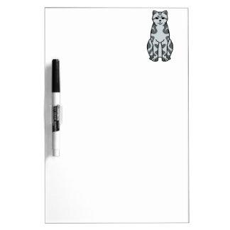British Shorthair Tabby Cat Cartoon Dry-Erase Board