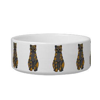 British Shorthair Tortie Cat Cartoon Bowl